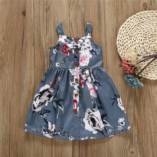 Vestidos de verão do bebê meninas Menina estilingue Backless vestido sem mangas casual colete princesa saia crianças roupas de grife meninas EJY503