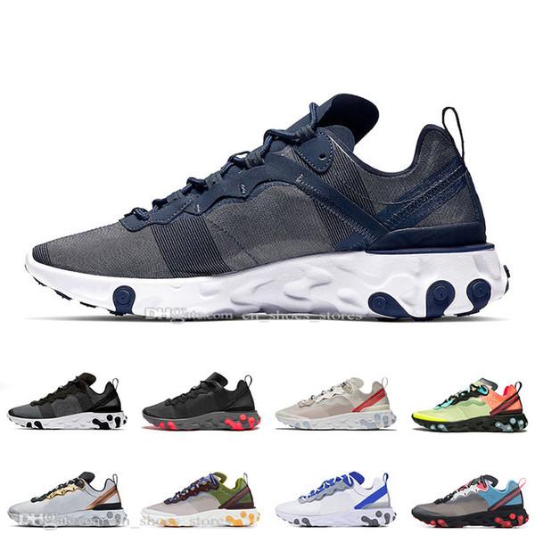 Yeni Tasarımcı 87 55 Moss Toplam Turuncu eğitmenleri spor tasarımcı spor ayakkabıları mens koşu ayakkabıları elemanı Midnight Navy Çölde Kum erkekler kadınlara tepki