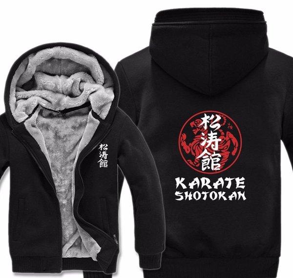 2019 uomini liberi di trasporto casuale pelo folto vello di lana Liner Shotokan Karate Shotokan Felpe con cappuccio Felpe con cappuccio Pullover Inverno