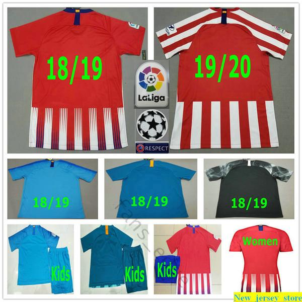 2019 2020 CORREA GRIEZMANN Soccer Jerseys Costa Koke Saul Godin Luis Gimenez Gabi Rodrigo Hazard Lemar Custom Man Woman Kids Football Shirt