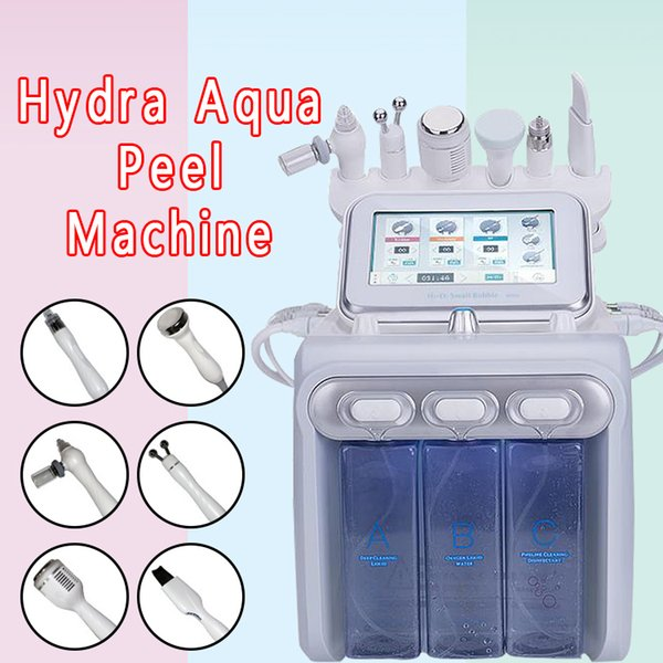 2019 New Hydra Water Facial Cleaner Aqua Peel Ultrasound Microcurrent BIO Cold Hammer H2O2 Spray Gun DHL