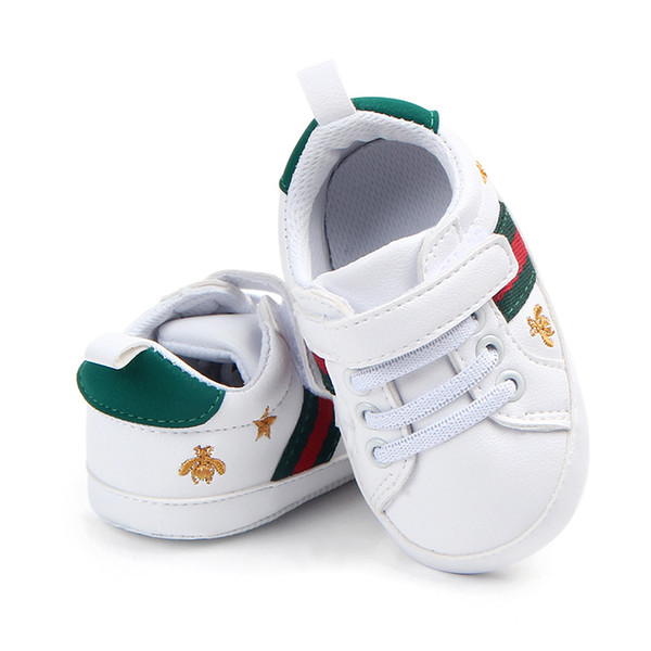 Wholesale Toddler moccasins baby shoes PU Leather First walker shoes soft sole Baby girls boys sneakers Infant Prewalker Shoes