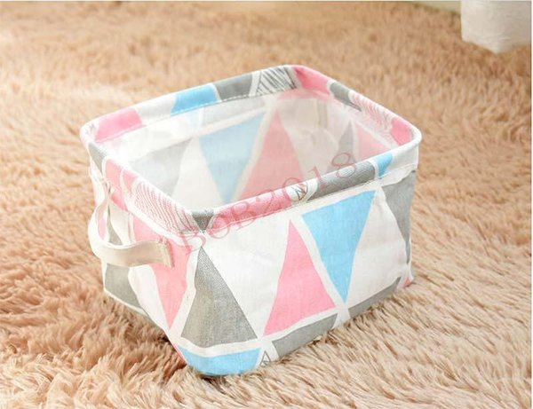 Cuboid Laundry Basket Collapsible Cotton Linen Washing Laundry Box Portable Storage Bin Toy Snack Baskets Organizer Fabric Storage Bin