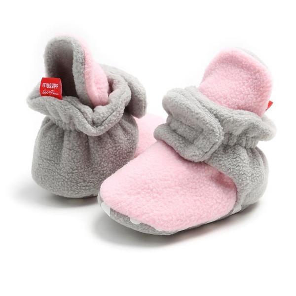 Baby Girl Boy Toddler Anti-slip Warm Slippers Socks Cotton Crib Shoes