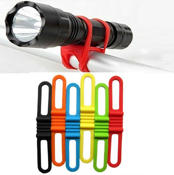 New Silicon Strap Mountain Road Bike Torch Phone Flashlight Bands Elastic Bandage Bicycle Light Mount Holder Bike Accessories