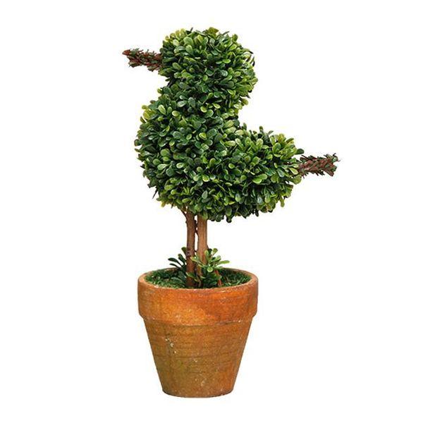 Bird Shape Artificial Pot Plants Tabletop Simulation Green Plants Decoration Bird