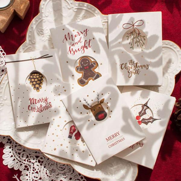 Christmas Card Hollow Card Férias de bênção