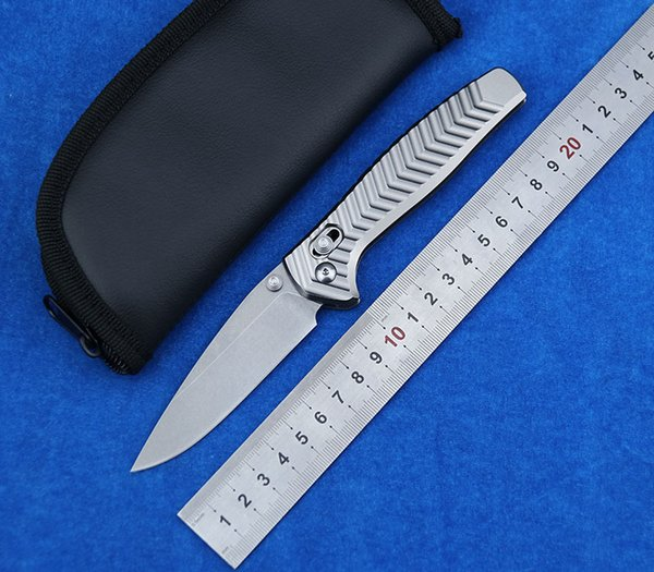Limited Edition 781 D2 Steel Aluminum handle Foldable knife camping pocket Survival Hunting Kitchen Knives EDC Tool