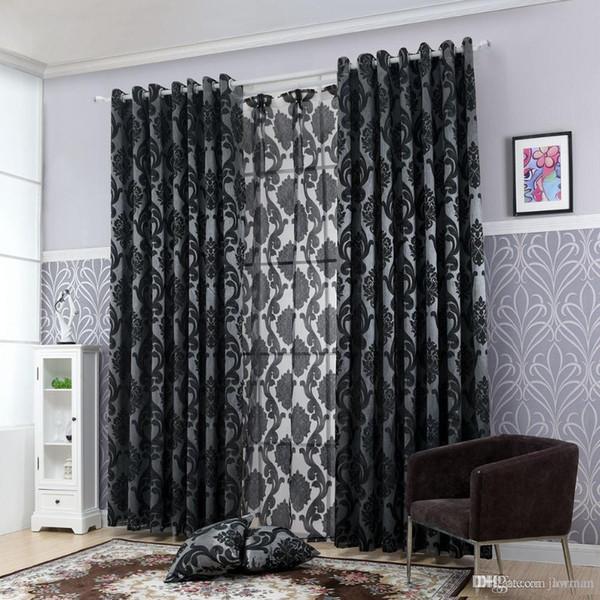 Großhandel Geometrie Vorhänge Für Wohnzimmer Vorhangstoffe Fenster Vorhang  Panel Halb Verdunkelung Schlafzimmer Vorhänge Von Jamwer, $29.76 Auf ...