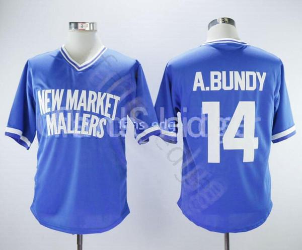 Ucuz AL BUNDY YENI PAZAR MALLERS BEYZBOL JERSEY 1400 Erkek Dikişli Formalar Gömlek Boyutu S-XXXL Ücretsiz Kargo 138