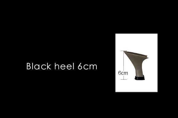 black heel 6cm