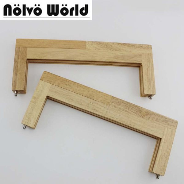 2pcs 28X11cm 11 Inch Oversize Nature Wood Frame In Screws For Sewing Female Purse Bag Handbags Handles