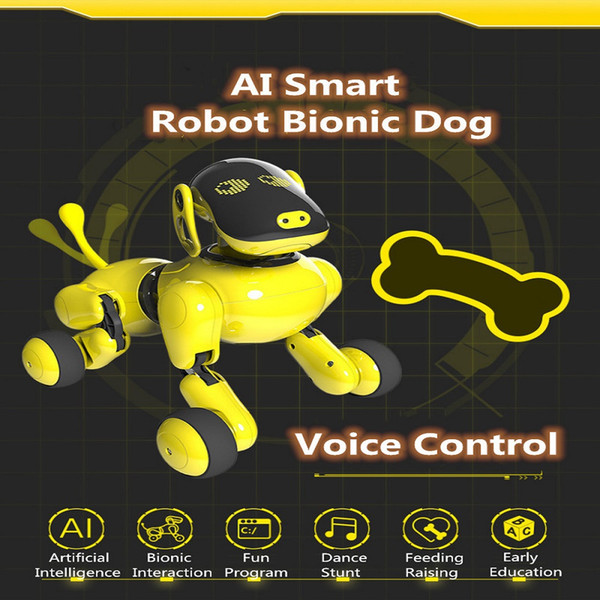 Electronic Pet Funny Interactive Wireless Remote Control Puppy Smart RC Robot Dog Voice Commands APP Control Robot Dog Toy