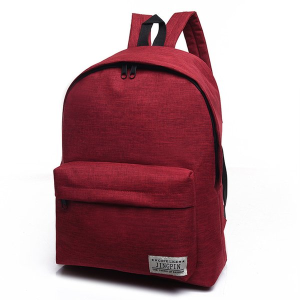 2019 Korean Simple Canvas Backpack Male/Female School Laptop Backpack for Teenagers Travel Bagpack Stachels Rucksack Mochila(Red)