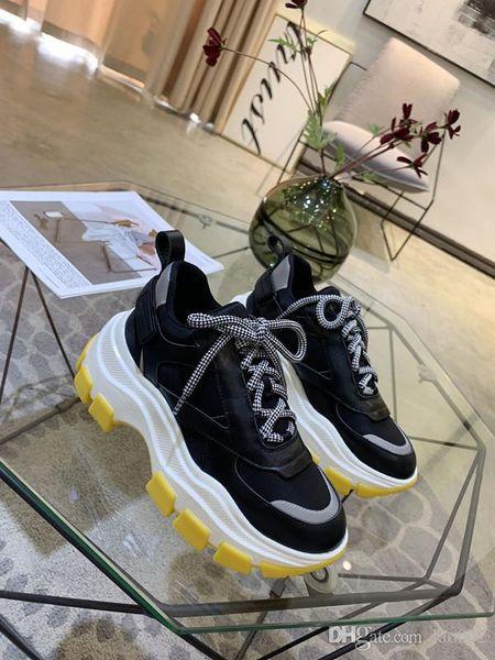 2019 Yürüyüş Ayakkabı Lüks Ayakkabı Tasarımcısı Erkekler Kadınlar için Sneakers Vintage Trainer ücretsiz kargo hem190614