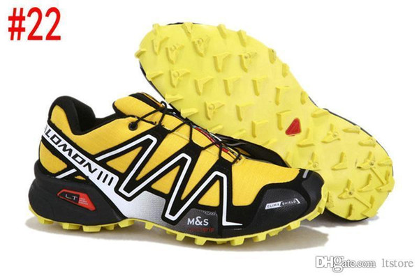 2019 Hot Solomon Speed Cross 3 CS III Running Shoes Black Silver Red Pink Blue Men Outdoor SpeedCross 3s Hiking Mens Sports Sneakers Ltstore From