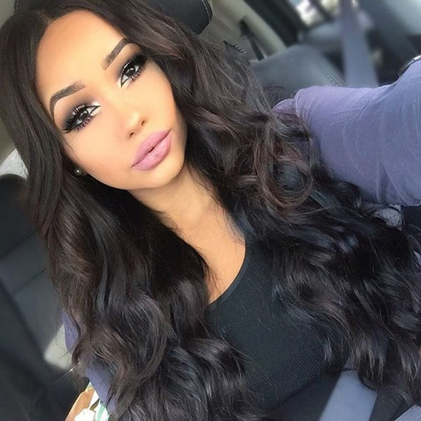 Malaysian Indian Virgin Human Hair Lace Wigs In Stock Natural Loose Wave Full Lace Wig With Baby Hair Lace Front Wigs For Women