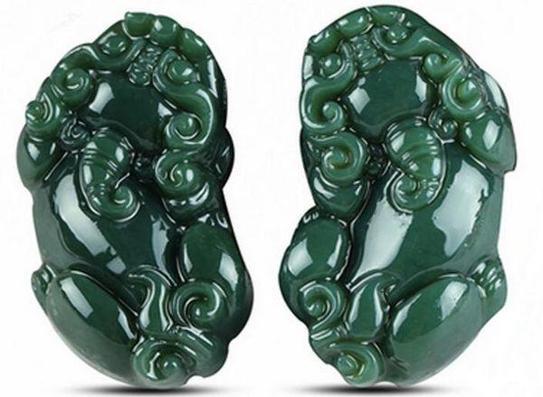 Pendentif en jade naturel Xinjiang Hetian Pendentif en cuir jade quelques modèles pendentif en jade