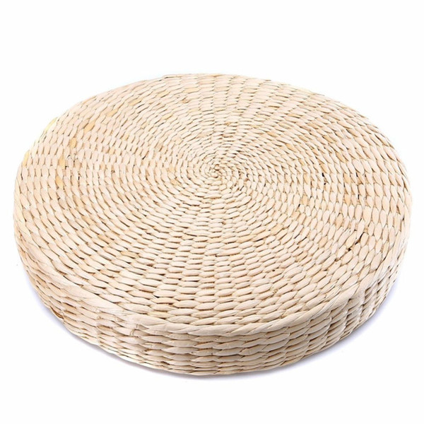 Grass Cushion Chair Seat Outdoor Straw Weave Beige Mat Handmade Zen 40*6cm Seat Cushion Yoga Pad Garden Round Home Decor
