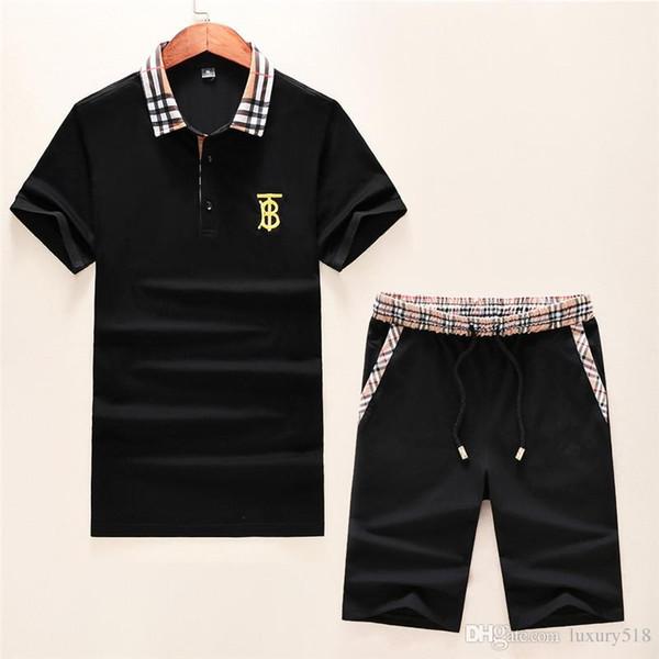 Summer's son erkek tasarım POLO T-shirt rahat erkek ekose dikiş tasarım spor rahat erkek giyim boyutu M-3X