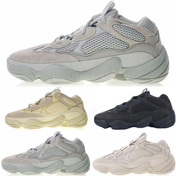500 Wave Runner Blush Desert Rat Sel Super Lune Jaune Utilitaire Noir Chaussures De Course Kanye West Hommes Baskets Femmes Casual Sport Baskets