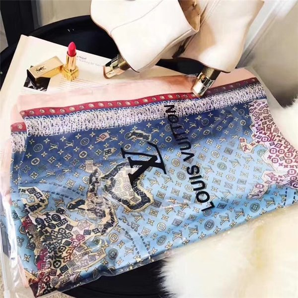 Fashion Scarf for Women brand silk Scarf Letter stitching Scarves For Womens Long Wraps Size 180x90cm without box