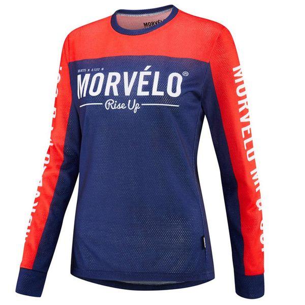Morvelo Frau Pro Fahrradbekleidung Sommer Radtrikot Langarm schnell trocknend Mountainbike Kleidung atmungsaktiv Fahrrad Shirt