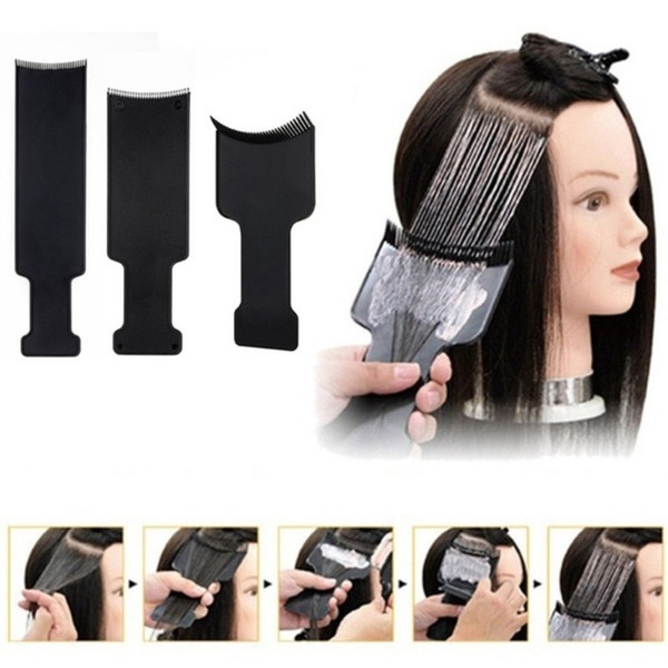 Professional Plastic Salon Hair Coloring Dyeing Board Plate For Barber Hairdresser Design Styling Tools Accessories