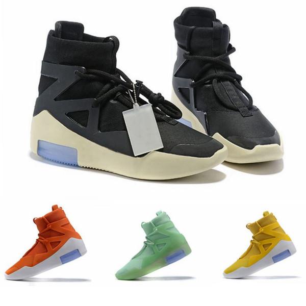 2019 Designer Chaussures Peur De Dieu La Lumière Des Os oranage Noir Hommes Femmes Mode Brouillard Bottes En Cuir Véritable Pour Vente Taille 7-12