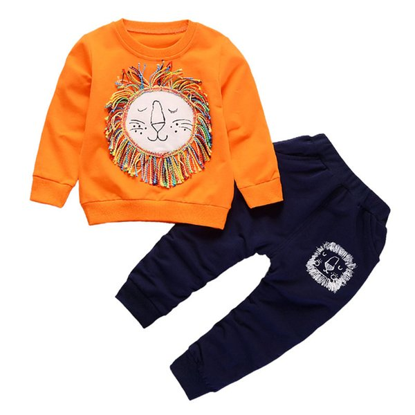 good quality spring autumn baby boys clothing sets cotton sweatshirts +trousers suits kids boys casual sports suits child tracksuit