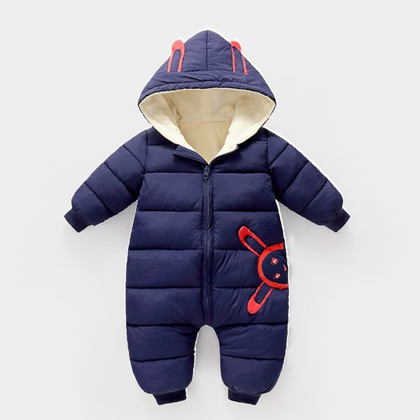 overalls baby Winter Plus velvet Newborn Infant Boys Girls Warm Thick Romper Jumpsuit Hooded Outfits Snowsuit coat kids Rompers