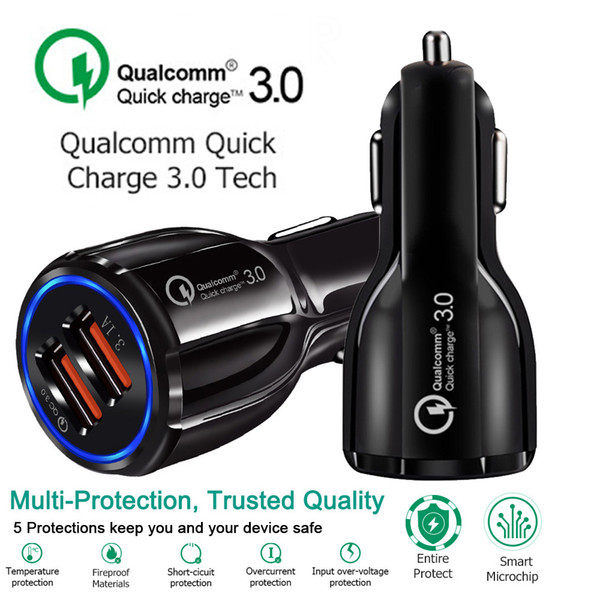 best selling Car Charger 5V 3.1A Quick Charge Dual USB Fast Charging For Iphone Xs Max 7 8 Plus For Samsung S9 S8 S7