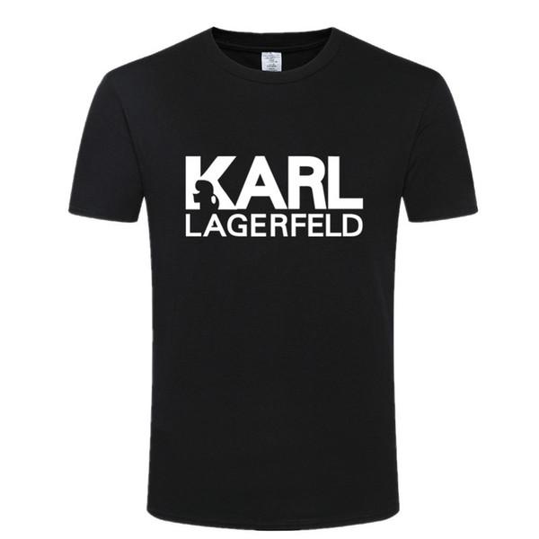 Karl Lagerfeld tişört mannen Unisex zomer Vogue Korte Mouw Grappige tişört Harajuku Tumblr Karl Tişört Mannen Die