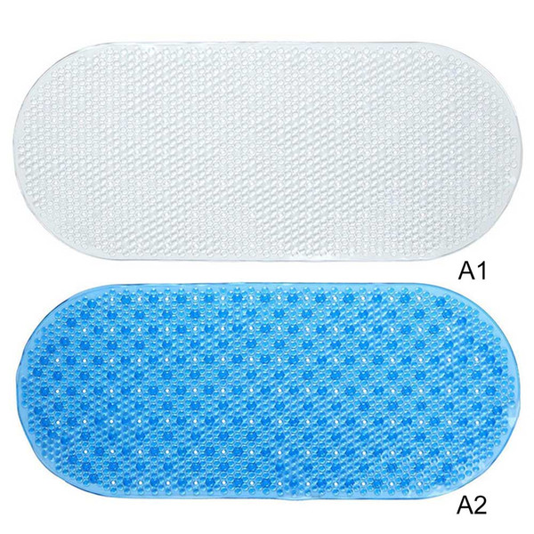 Anti-Slip Bathroom Mat Bath Mat Suction Cup Bathroom Kids Shower Carpet PVC 69*36cm