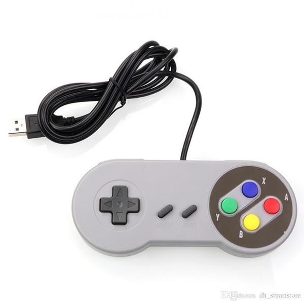 Très bon USB contrôleur de jeu manette de jeu manette de jeu pour Nintendo SNES Manette de jeu pour PC Windows pour ordinateur Mac Manette de contrôle