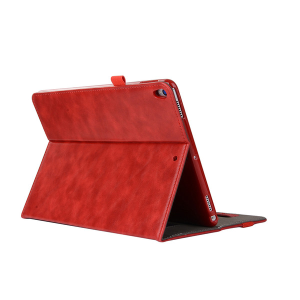 Half Genuine Leather Tablet Cases For iPad PRO 10.5 ipad 5 6 AIR2 Cover Case Shockproof Stand Dormancy PU Leather Case