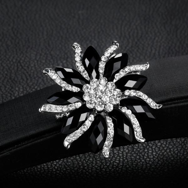 spilla caldo commercio estero in lega di resina nera presa di spilla gioielli fabbrica nuova moda