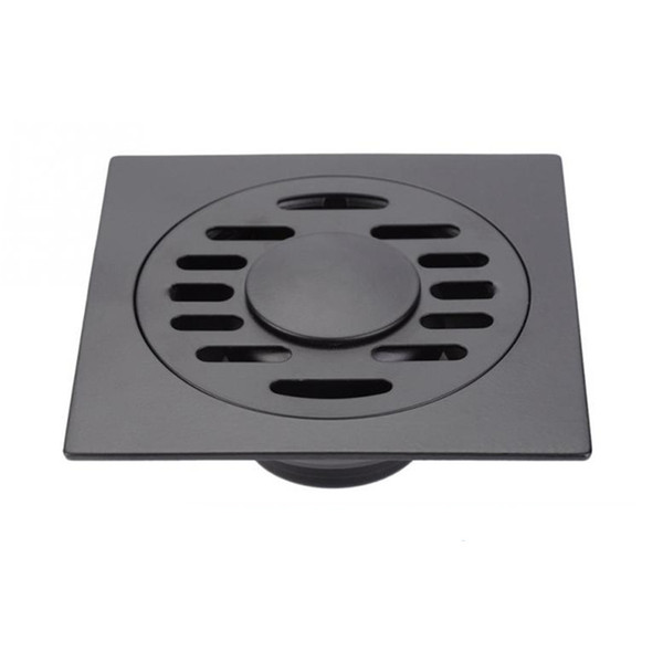 Black Bathroom Drain Cover Durable Shower Drain Cap with Lid for Floor Laundry Kitchen Bathroom(Compatible with Washing Machine)