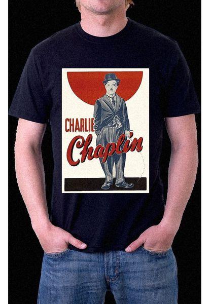 CHARLIE CHAPLIN VINTAGE HOLLYWOOD INK PRINTED Black T-Shirt S M L XL XXL XXXL cattt windbreaker Pug tshirt