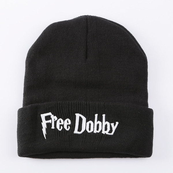 Free Dobby Embroidered Mens Womens Designer Skullcaps Hip Hop Casual High Street Hats Male Female Beanie Harry Potter
