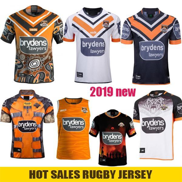 WESTS TIGERS 2019 Maglia da casa in trasferta Maglia da rugby indigena Jerseys Anzac ROCKET RACCOON MARVEL Maglia da rugby in Australia NRL Rugby League