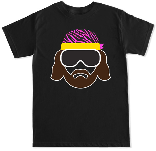 SAUVEGARDER SILHOUETTE MACHO MAN FLAIR WRESTLING T-SHIRT FUNNY HUMOUR