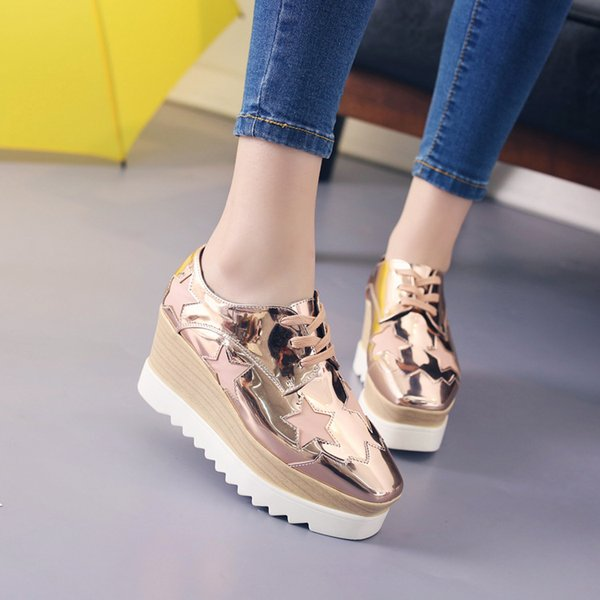 Chaussures Baskets Pour Femmes Plateforme Creepers Chaussures Baskets Femme Star Casual Ladies Flats Loafers Dropshipping