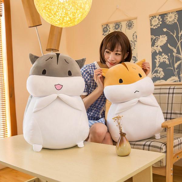Nuovi giocattoli di peluche creativi Fat Hamster Doll Confortevoli e morbidi animali di peluche Cuscino per criceto Regalo di compleanno all'ingrosso