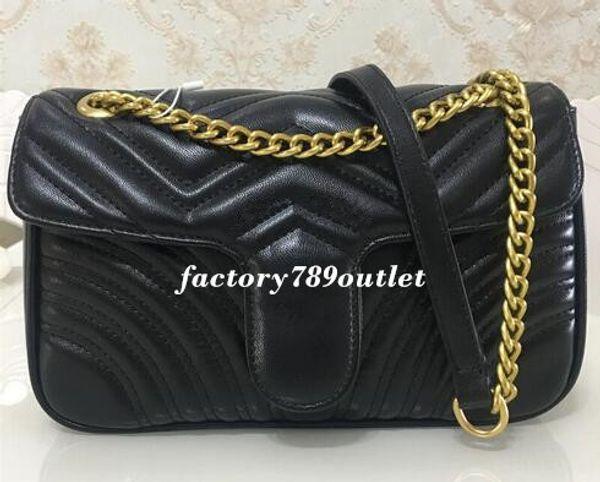 High Quality Famous Designer Shoulder Bag Pu Leather Fashion Chain Bag Cross body Pure Color Female Women Handbag Shoulder Bag 26cm 989898