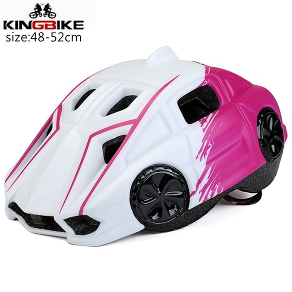 KINGBIKE Bike Helmet Child 48-52cm Cycling helmets for Kids Breathable Safe Bicycle Helmet Integrally-molded Capecete Ciclismo