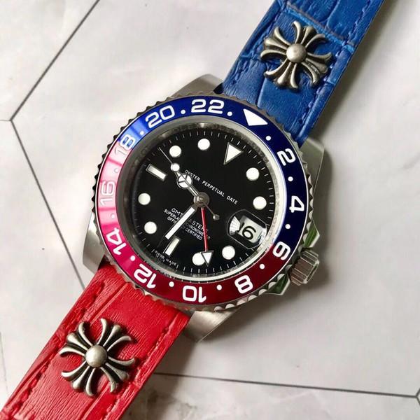 montres de luxe pour hommes designer Rbrand montres R16 Machines automatiques bleu léger calendrier bits peu bracelet en cuir bracelet en cuir luminescent homme montre-bracelet