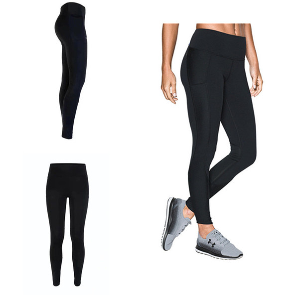 S-XXL Summer Stretchy Leggings Women Sports Jogging YOGA Pants U&A Skinny Tights Amour Solid Color GYM Workout Trousers Track Pants C42305