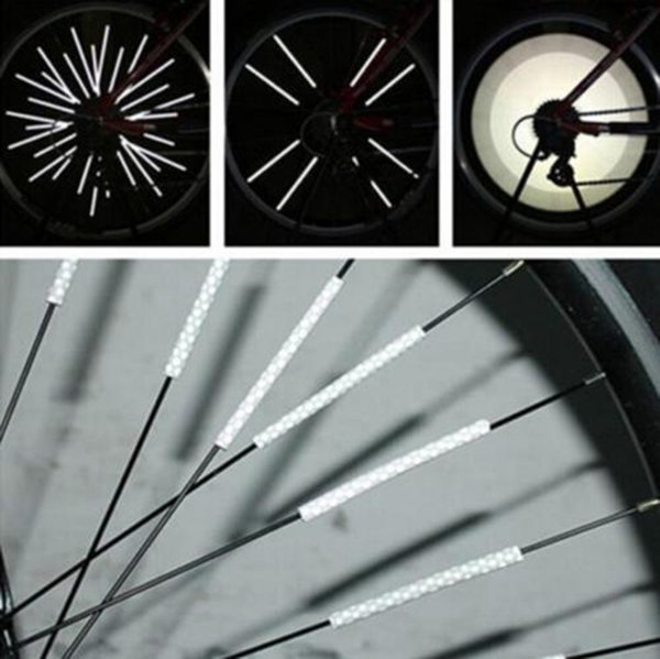12PCS Bike Wheel Spoke Protector Rims Skins Covers Off Road Bike Guard Wraps Kit Motorcycle Guard