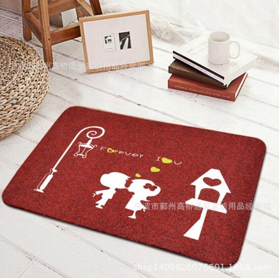 Welcome Doormat Entrance Mat Hallway Simple cartoon printed street light picture Floor Mat waterproof Front Door Carpet